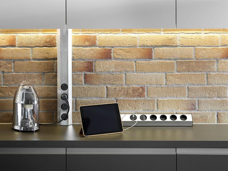 bachmann casia steckdosenleiste schuko schalter usb. Black Bedroom Furniture Sets. Home Design Ideas