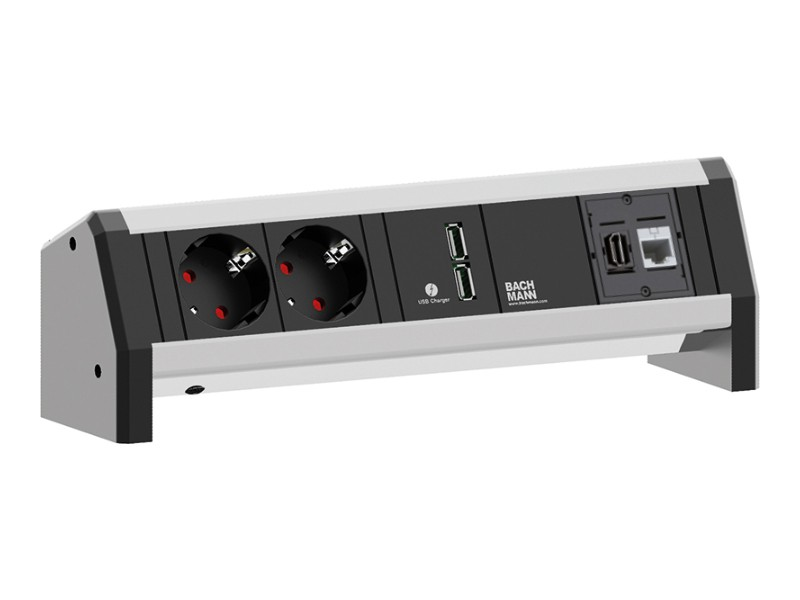 Bachmann Desk 1 Usb Charge 2x Steckdose Hdmi 902 01821