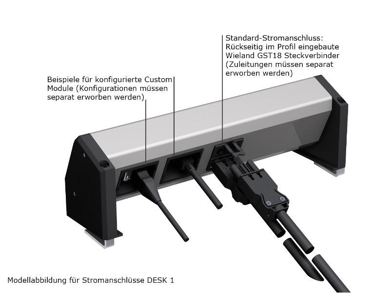 Bachmann DESK 1 3x Steckdose Schalter 2-polig 902.0050