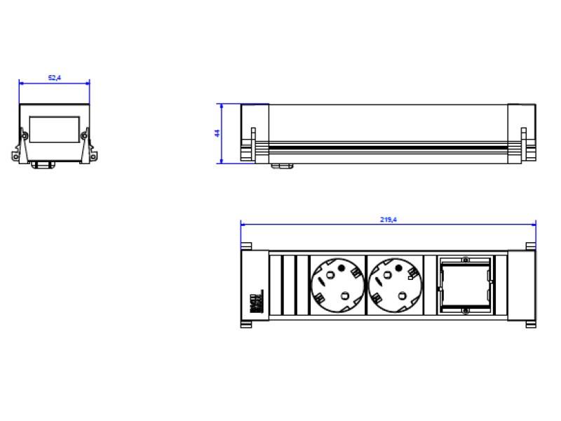 bachmann power frame 3 fach steckdoseneinheit. Black Bedroom Furniture Sets. Home Design Ideas