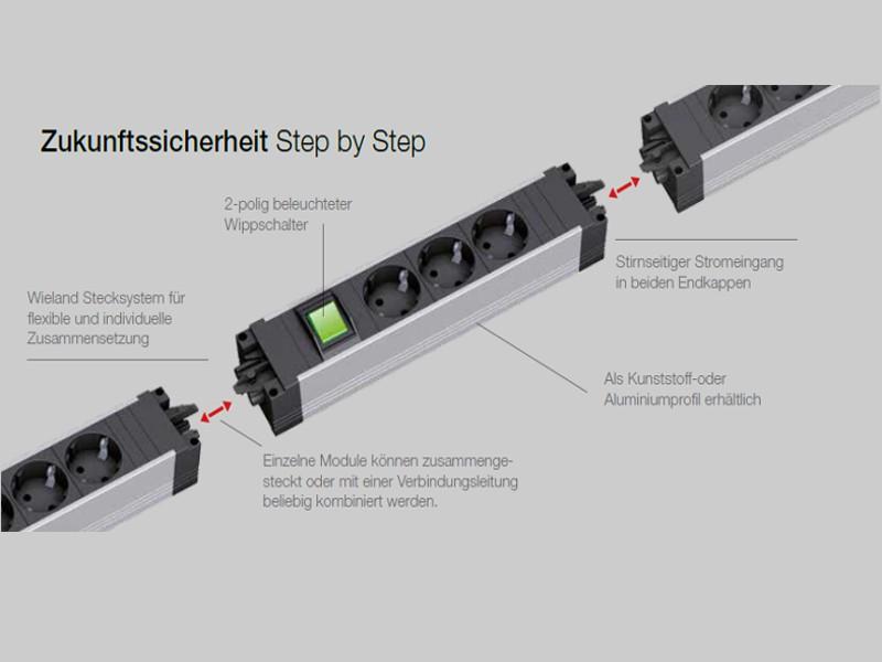 Bachmann STEP ALU 3x Steckdose Schalter 906.003