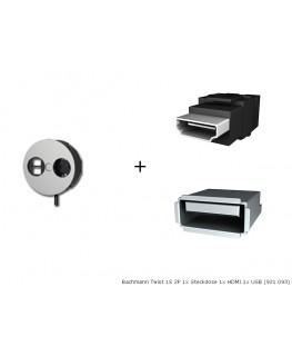 bachmann twist 1s 2p steckdose hdmi lan. Black Bedroom Furniture Sets. Home Design Ideas