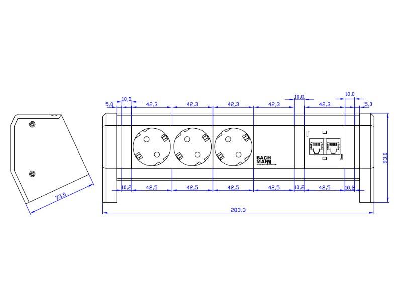 bachmann desk 1 3x steckdose 2x cat5e. Black Bedroom Furniture Sets. Home Design Ideas