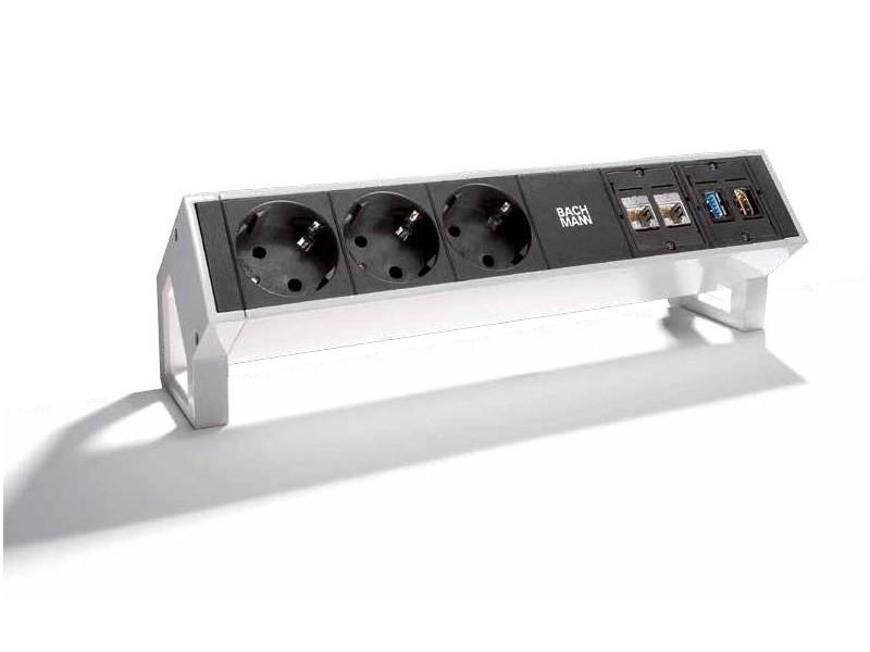 Turbo Bachmann DESK 2 3x Steckdose 2x CAT6 USB HDMI Inox 902.502 QH51