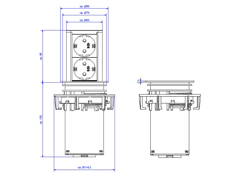 bachmann elevator 2x steckdose. Black Bedroom Furniture Sets. Home Design Ideas