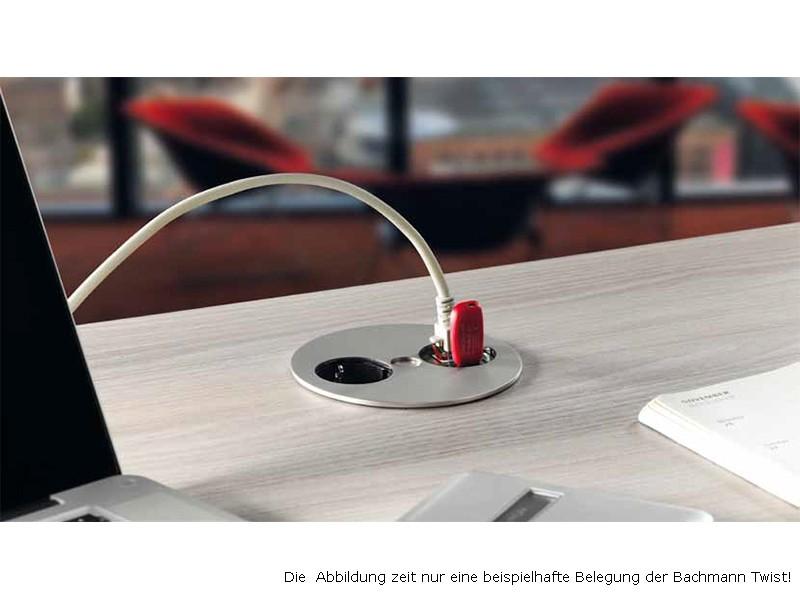 Berühmt Bachmann Twist 1S 2P Steckdose USB LAN 931.092 XE04